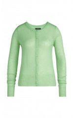 King Louie Cardigan Femme Col Rond Fluffy Mint Green