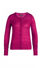 King Louie Cardigan Femme Col Rond Fluffy Vivid Purple