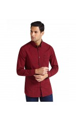 Guess Chemise Manches Longues Homme Jefferson Rouge