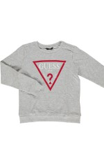 Guess Sweat Garçon à logo Gris