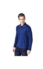 Guess Polo Manches Longues Homme Adrian M84P08 Bleu