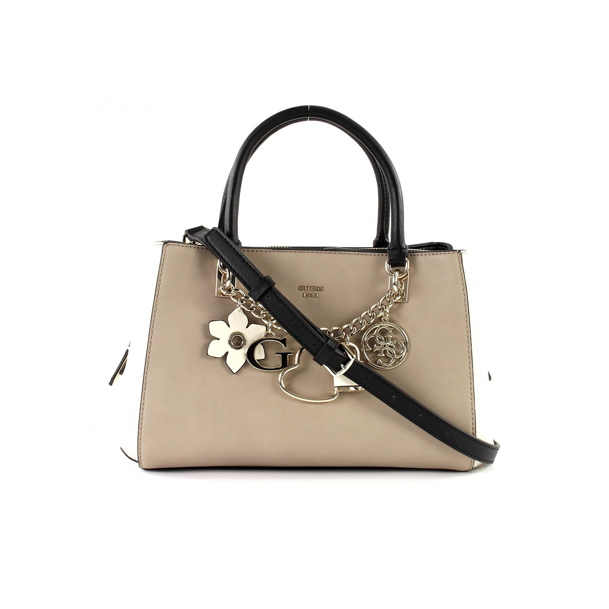 da3c70ce7e Girlfriend À Satchel Guess Sac Hadley Taupemulticolore Main 354ARLqj