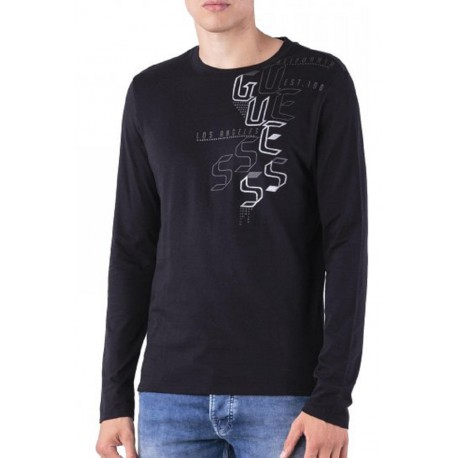 Guess T-shirt Manches Longues Homme M84I1