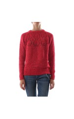 Guess Pull en Maille Femme W84R0A GAENO Rouge