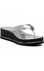 Guess Tongs Femme Enzy Argent