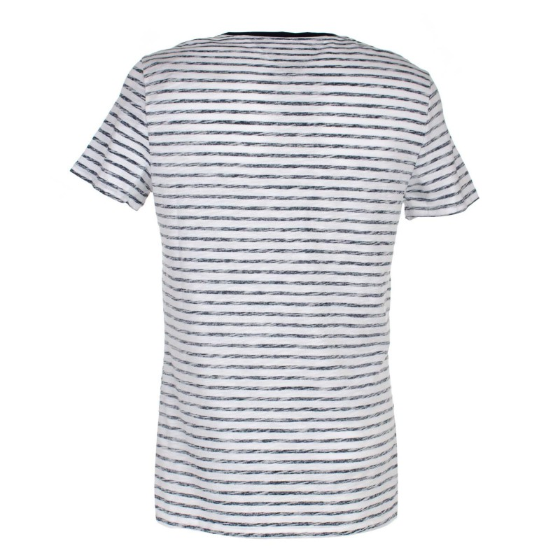 Guess T-Shirt Mariniere Homme ALDEN M92I56 Blanc