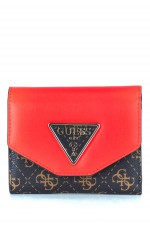 Guess Portefeuille Femme MADDY SG7291430 Rouge et Brun
