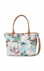 Desigual Sac Soft tropical M beige 19SAXFA0