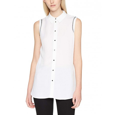 Guess Chemise sans manches Mildred W81H21 Blanc