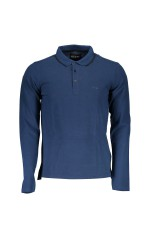 Guess Polo homme Manches Longues Donald Navy M73P46