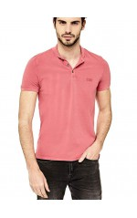 Guess Polo homme col mao rouge M72P58