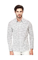 Guess Chemise Homme Manches Longues Sunset Blanc