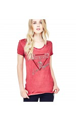 Guess T-Shirt Femme Los Angeles W81I72 Rose