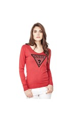 Guess Pull Alma Logo Triangle Rouge W81R32