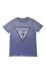 Guess T-Shirt Logo Triangulaire Violet