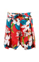 Guess Short Fille Slow Pants Motif Floral Rose