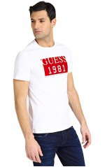 Guess T-Shirt Homme M94I48 Roots Blanc
