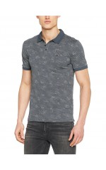 Guess Polo Homme Justin Noir
