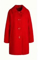 King Louie Manteau Femme Betty Biscuit Scarlet Red