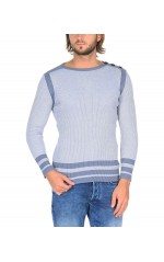 Guess Pull Homme Ribbed Gris