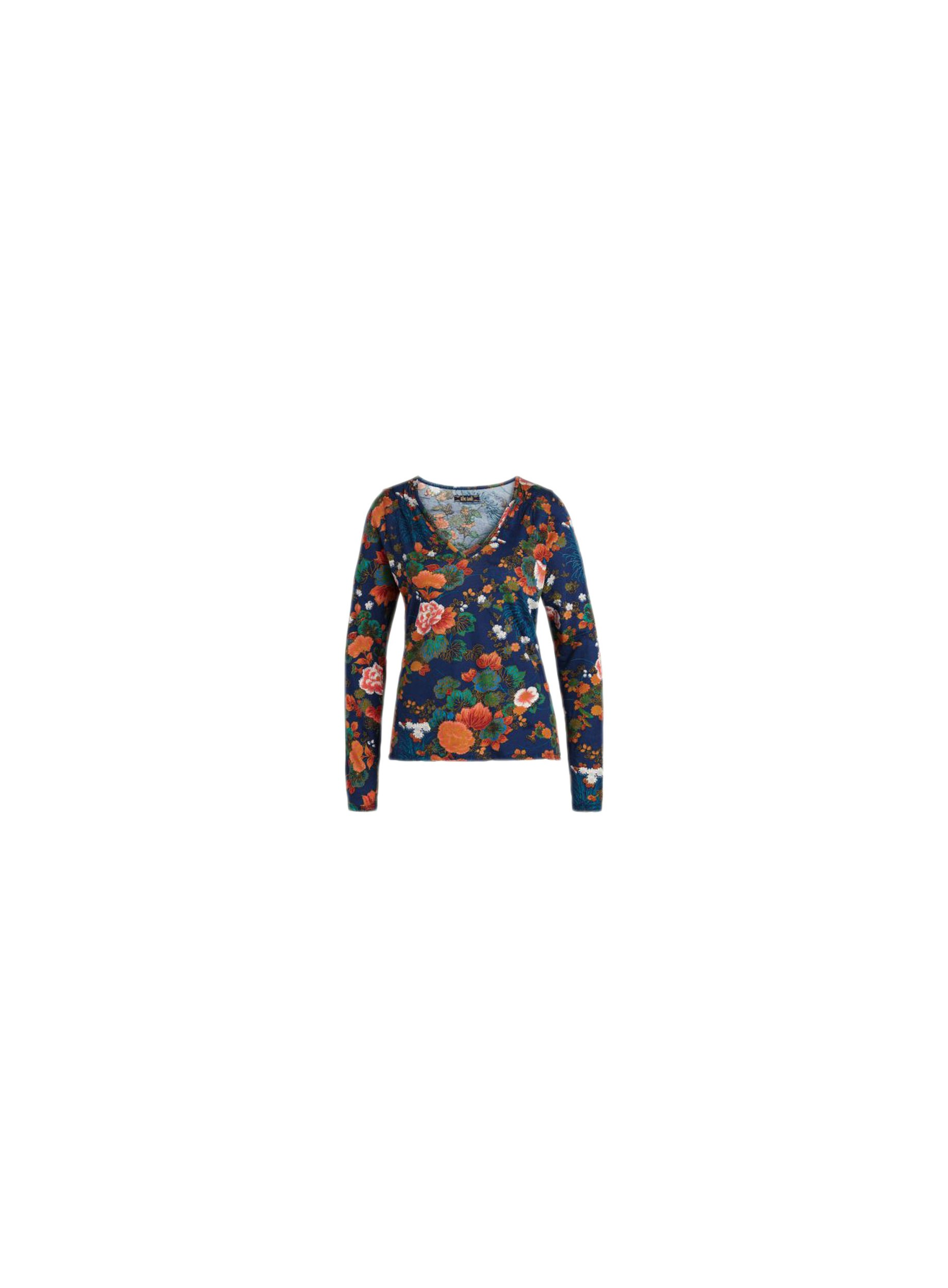 King Louie Top Lauren Printed Cotton Jersey Palace Blue