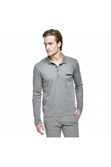 Guess Polo Homme Manches Longues M64P21 Rufo Gris (rft)