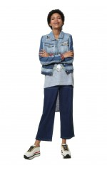 Desigual Veste Denim Light Marguerite Bleu 19swed74