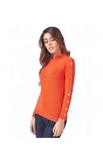 Guess Top Pull Femme W83R36 CECILIA Rouge