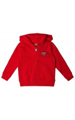Guess Sweat ZIP Capuche garçon N81Q20 FLEECE_CORE Rouge