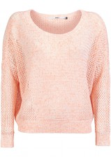 Pull Only Jody Cloud Dancer Blanc et Rose