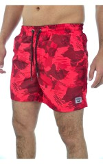 Kaporal Short De Bain Homme RULL Rouge Camouflage