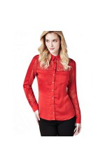 Guess Chemisier Femme Carla Rouge