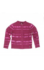 Guess Pull à  ZIP Fille J83R00  SWEATER Rose Fuschia