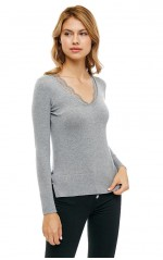 Guess Pull Femme BETH W83R53 Gris