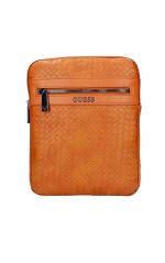 Guess Sacoche Homme New Milano FLAT Brun Camel HM6651