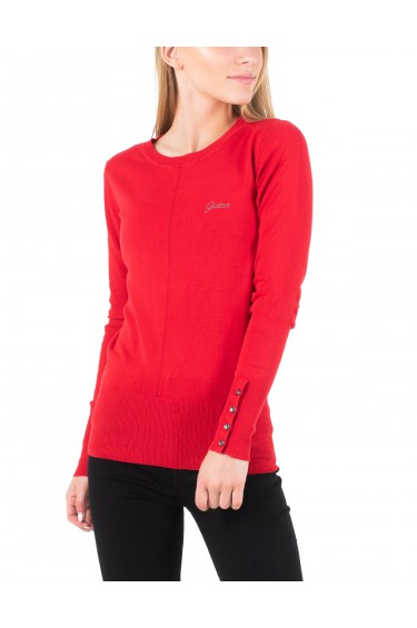 Guess Pull Femme W94R0XZ2760 Rives Rouge (rft)