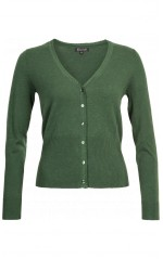 King Louie Cardigan V Cocoon Forest Green