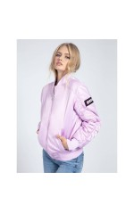 Guess Bombers femme Wrinkled rose W0YL77