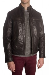 BLOUSON EN CUIR REDSKINS BALRIV BROWN