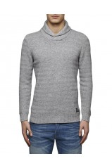 Pull Jack & Jones rail shawl neck light grey