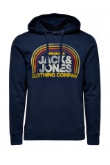 Sweat Jack & Jones orange hood dress blues