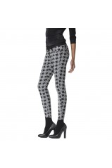 Jean G-star Lynn Zip Ankle Skinny Grey Dogtooth Jacquard