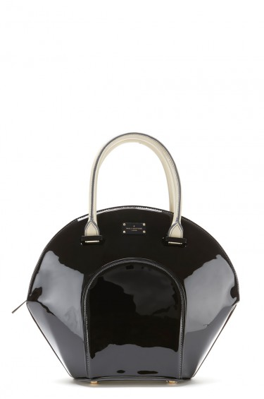 Sac à main Sac à main Paul's Boutique Meg Structured Patent-black with cream