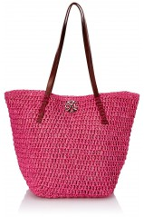 Sac Christan Lacroix Addict 2 en paille Rose