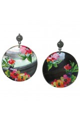 "Boucles d'oreilles Franck Herval collection ""Floral"" 12--61736"