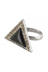 "Petite bague triangulaire Franck Herval collection ""Charleston"" 19--60413"