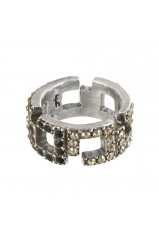 "Bague multistrass Franck Herval collection ""Charleston"" 19--60410"