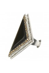 "Bague triangulaire XL Franck Herval collection ""Charleston"" 19--60411"