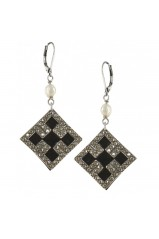 "Boucles d'oreilles Franck Herval collection ""Charleston"" 12--60943"