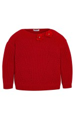 Mayoral Pull Fille Rouge avec Strass